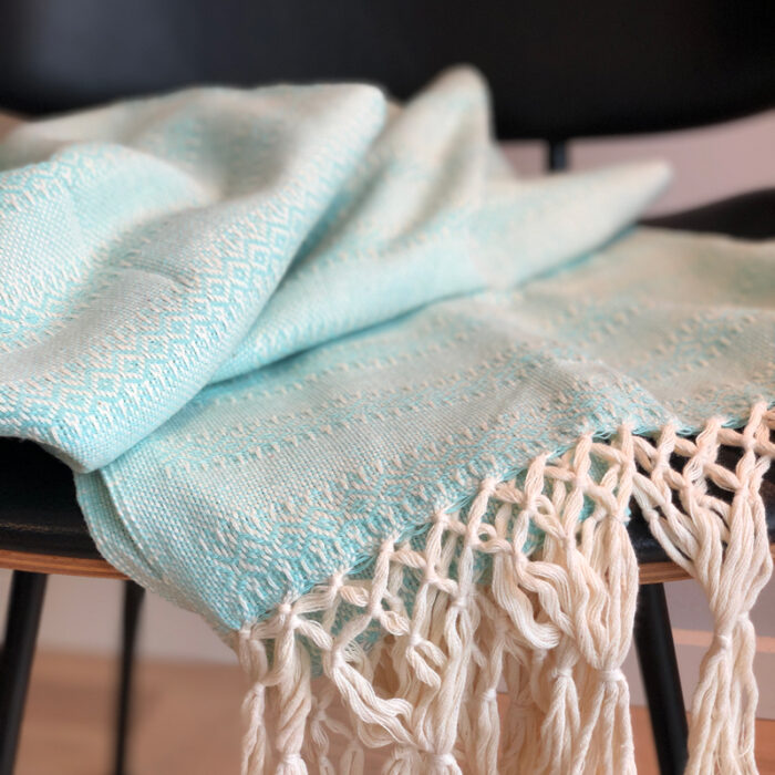 Rebozo Scarf Emma Mint baby carrier and Rebozo massage pic.1