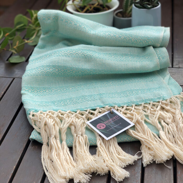 Rebozo Scarf Emma Mint baby carrier and Rebozo massage pic.2