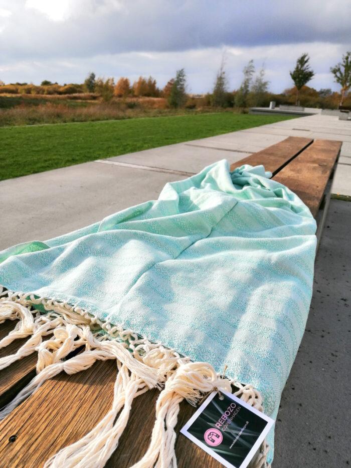Rebozo Torklæde Emma Mint Vikle og Rebozo massage pic.4