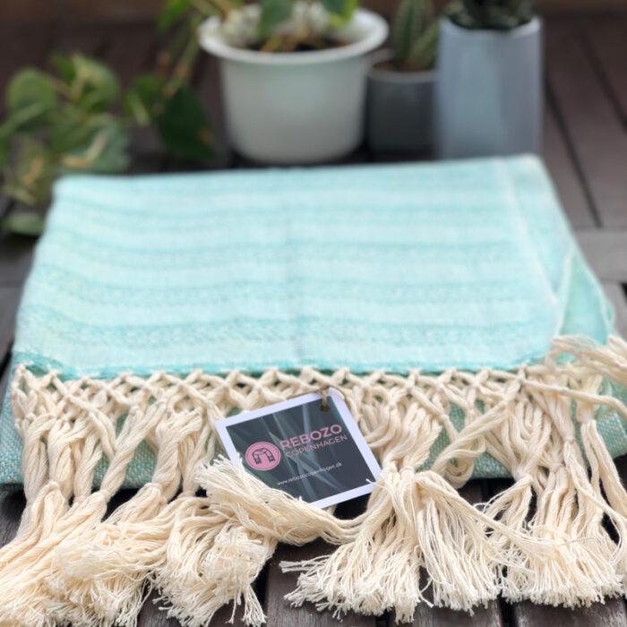 Rebozo Torklæde Emma Mint Vikle og Rebozo massage pic.5