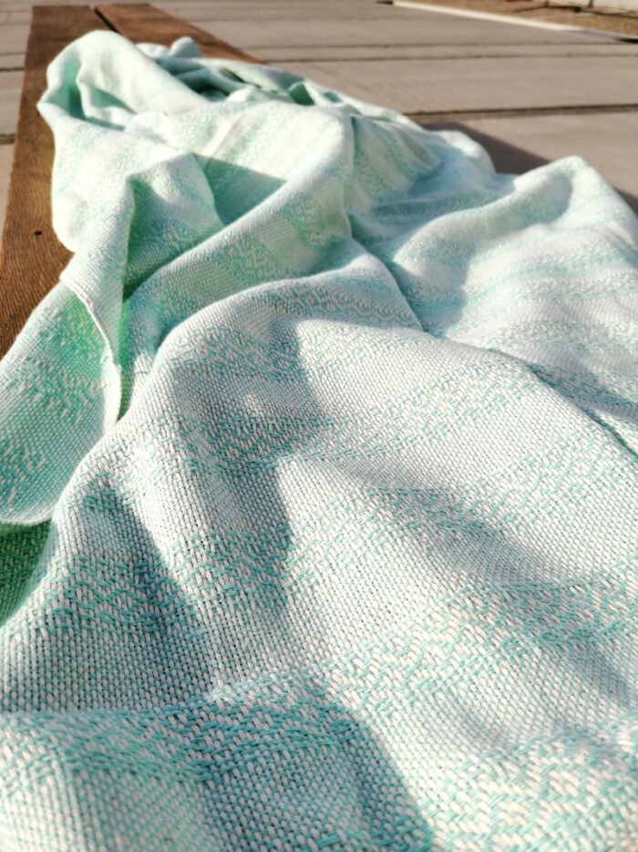 Rebozo Torklæde Emma Mint Vikle og Rebozo massage pic.6