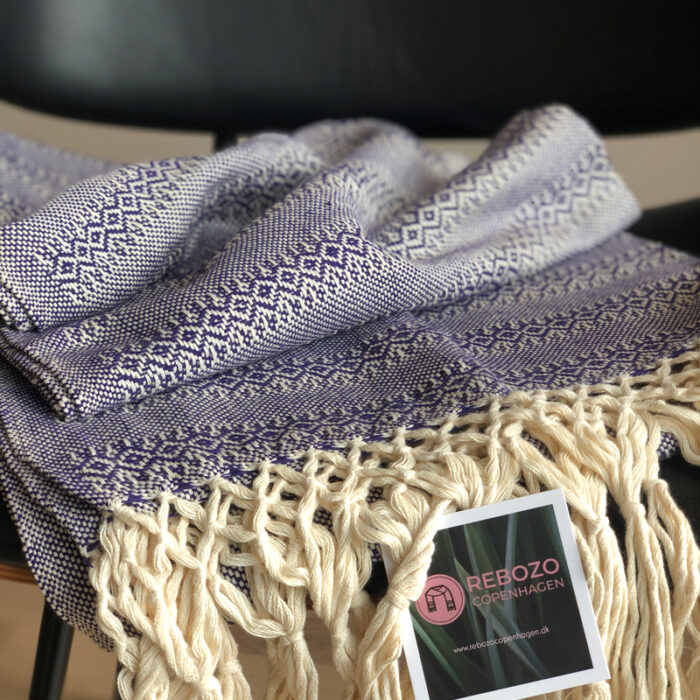 Rebozo Scarf Emma Purple Baby carrier and Rebozo massage pic.1