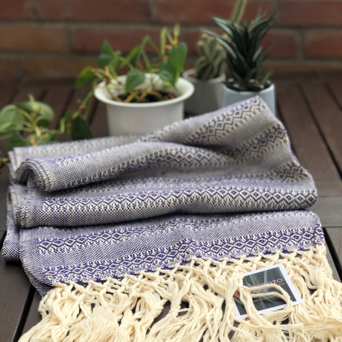 Rebozo Scarf Emma Purple Baby carrier and Rebozo massage pic.2