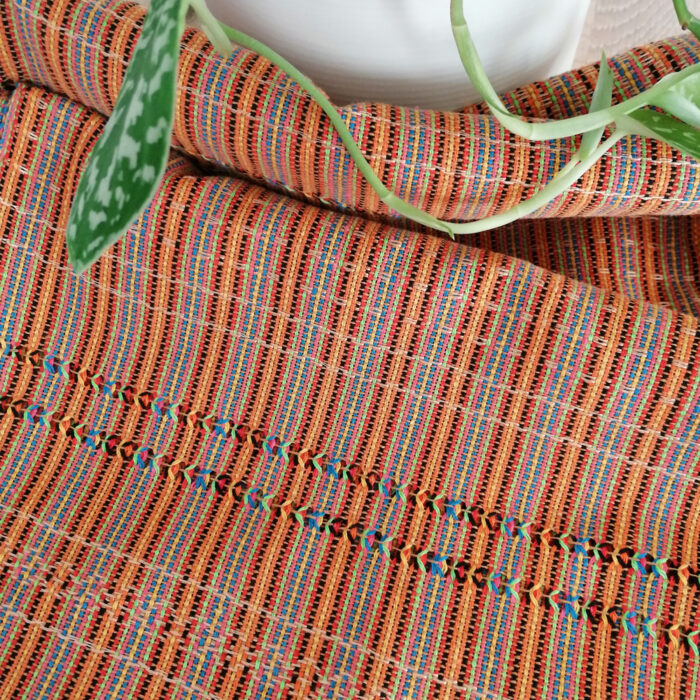Rebozo Scarf Amaya Orange Stripes Wrap and Rebozo massage pic.2