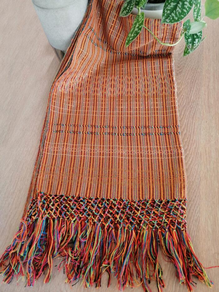 Rebozo Torklæde Amaya Orange Stripes Vikle og Rebozo massage pic.3