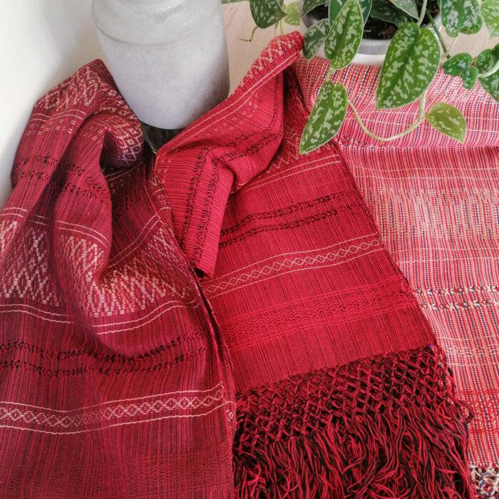 Rebozo Scarf Amaya Red Wrap and Rebozo massage pic.1
