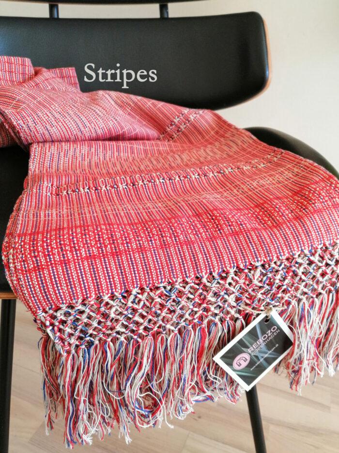 Rebozo Torklæde Amaya Red Stripes Vikle og Rebozo massage pic.1