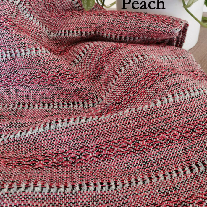 Rebozo Torklæde Amaya Red Stripes Peach Vikle og Rebozo massage pic.1