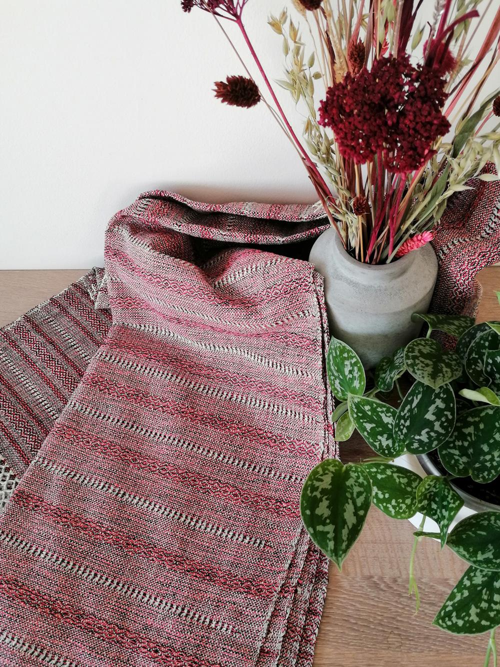Rebozo Torklæde Amaya Red Stripes Vikle og Rebozo massage