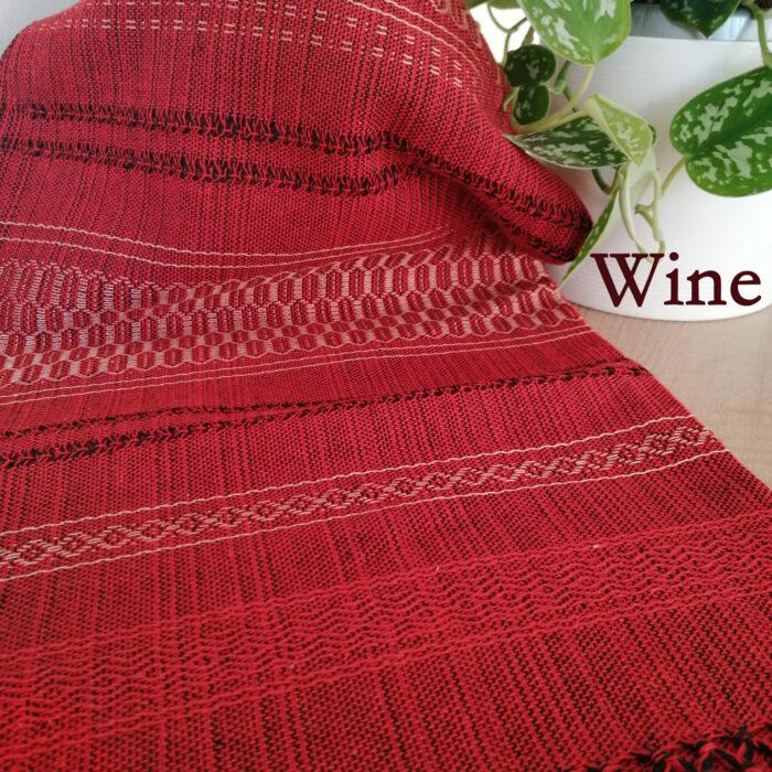 Rebozo Torklæde Amaya Red Wine Vikle og Rebozo massage pic.1