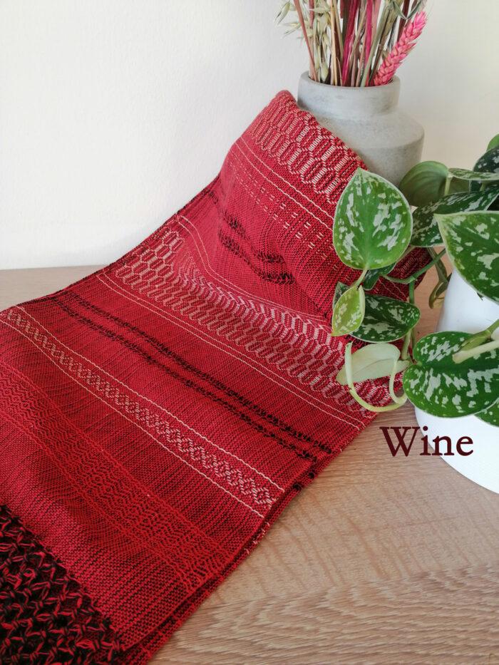 Rebozo Torklæde Amaya Red Wine Vikle og Rebozo massage pic.2