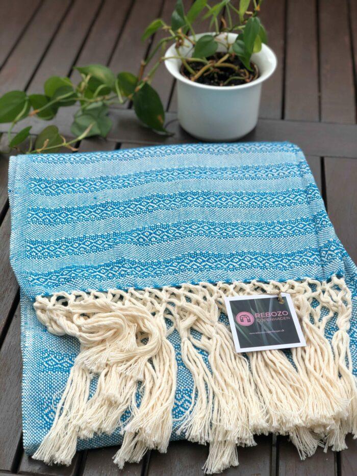 Rebozo Torklæde Emma Turquoise Vikle og Rebozo massage pic.2