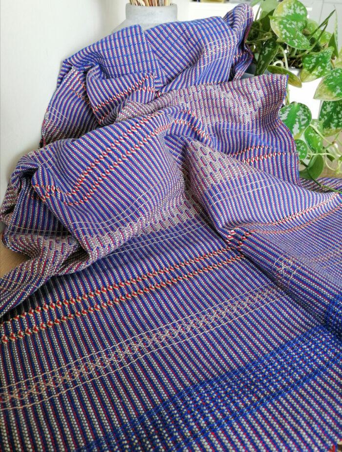 Rebozo Torklæde Amaya Blue Vikle og Rebozo massage p.1