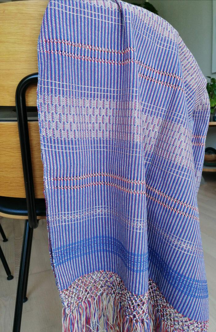 Rebozo Torklæde Amaya Blue Vikle og Rebozo massage p.4