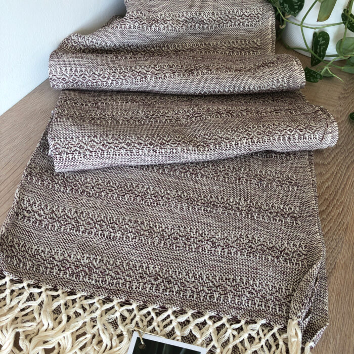 Rebozo Scarf Emma Chocolate Sand Baby Carrier and Rebozo massage pic.1