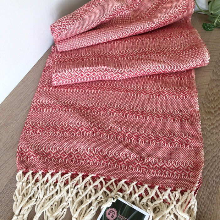 Rebozo Scarf Emma Red Coral Baby Carrier and Rebozo massage b.1