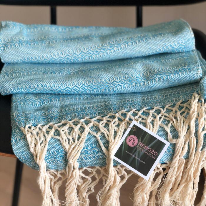 Rebozo Torklæde Emma Turquoise Mint Vikle og Rebozo massage b.3