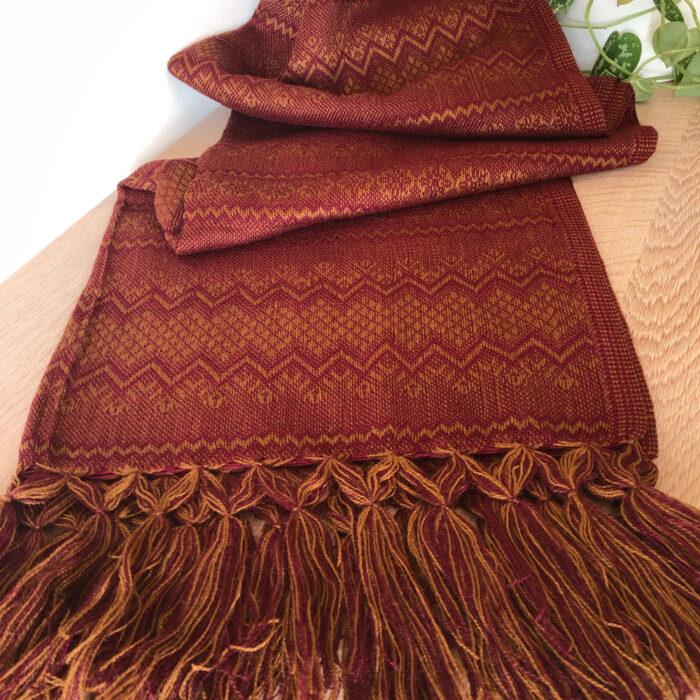 Rebozo Torklæde Marie Pink Gold Vikle og Rebozo massage b.1